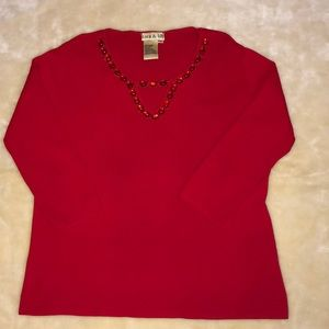 sara & lily Red Top